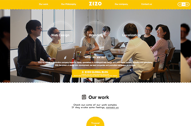 ZIZO International Webサイトを公開